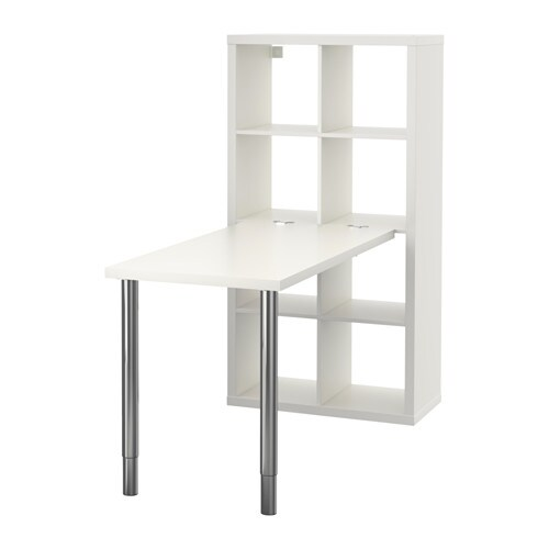 Kallax Workstation Whitechrome Plated Ikea