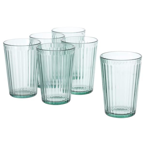 KALLNA Glass, green, 10 oz