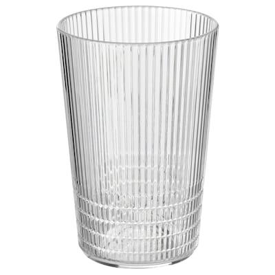 KALLSINNIG Glass, clear plastic, 13 oz