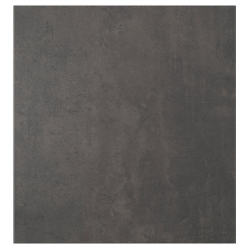 """KALLVIKEN door dark gray concrete effect 23 5/8 """" 25 1/4 """" 3/4 """""""