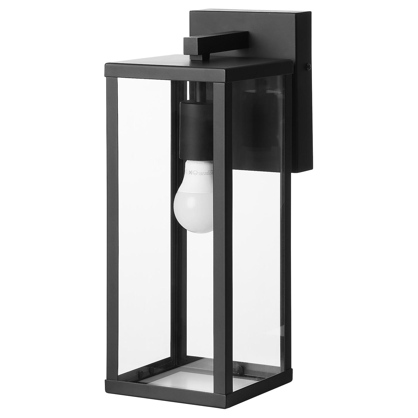 KANNLAND Wall lamp, outdoor black - IKEA