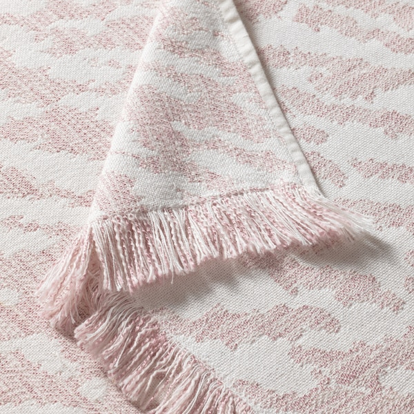 KAPASTER Throw, white/pink, 51x67 ""