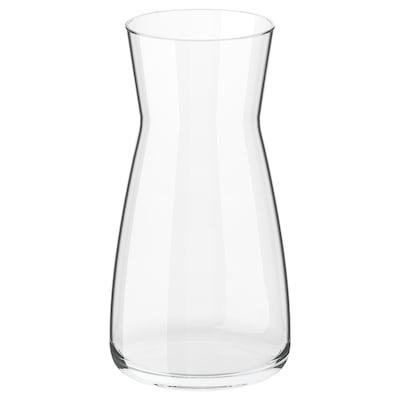 "KARAFF carafe clear glass 7 ¾ "" 4 ¼ "" 34 oz"