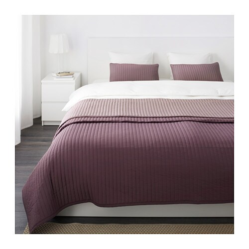 KARIT Bedspread and 2 cushion covers, lilac lilac Queen/King