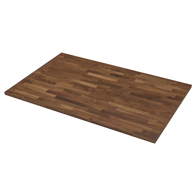"KARLBY Countertop for kitchen island, walnut/veneer, 74x42x1 1/2 """