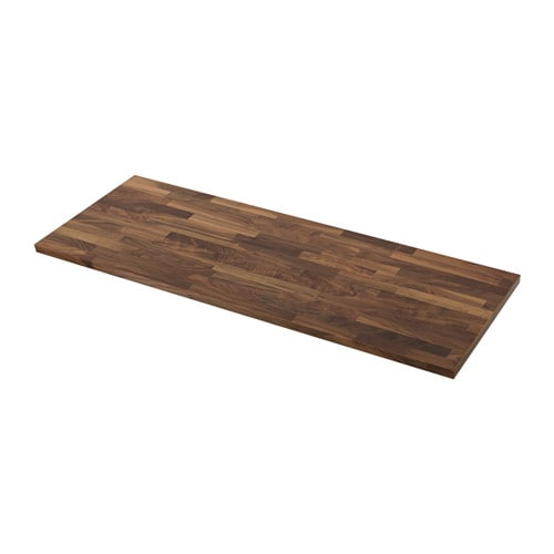 KARLBY Countertop for kitchen island, walnut walnut 74x42x1 1/2
