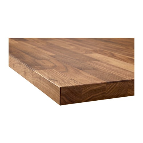 KARLBY Countertop IKEA Countertop with a top layer of walnut, a durable natural material that can be sanded and surface treated when required.