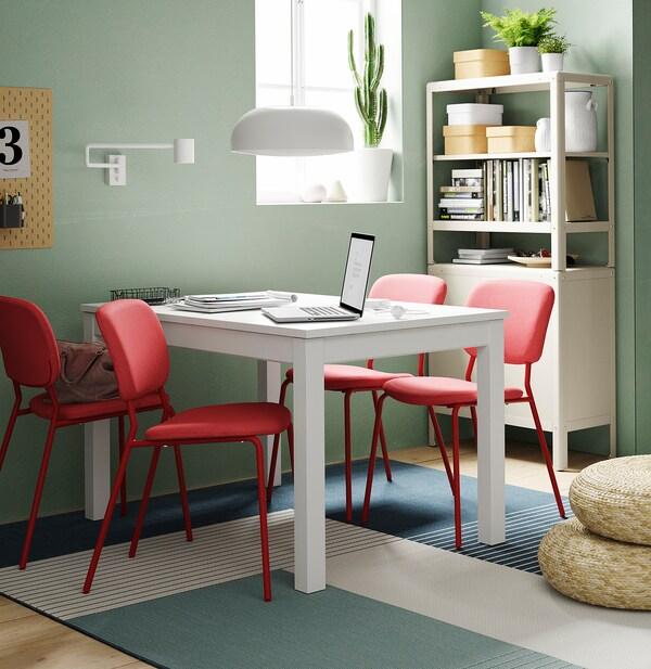 """KARLJAN chair red/Kabusa red 243 lb 19 1/4 """" 21 5/8 """" 31 7/8 """" 17 3/4 """" 15 3/4 """" 17 3/4 """""""