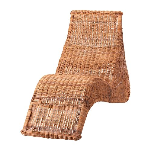 Ikea wicker rattan furniture armchairs chaises for Chaise longue rotin