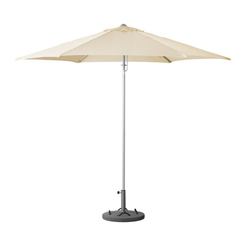 karls l k umbrella with base tilting beige gray ikea. Black Bedroom Furniture Sets. Home Design Ideas