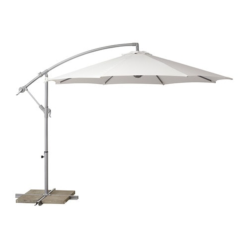 Sale alerts for Ikea KARLSÖ Umbrella, hanging, white - Covvet