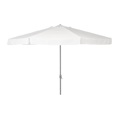 KARLSÖ Umbrella IKEA Excellent UV-protection; the fabric blocks at least 97% of the ultraviolet radiation.  Removable and washable fabric.