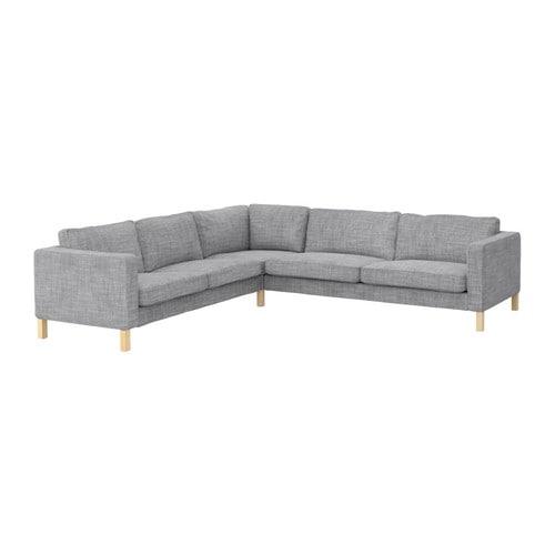 Karlstad corner sofa 2 3 3 2 isunda gray ikea Ikea karlstad sofa