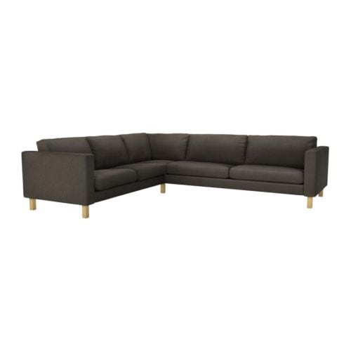 Karlstad Corner Sofa 2 3 3 2 Cover Korndal Brown Ikea