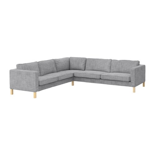 Karlstad corner sofa 2 3 3 2 isunda gray ikea for Ikea gray sofa
