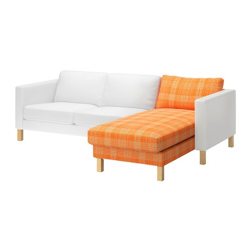 Karlstad cover for add on chaise longue husie orange ikea - Chaise longue exterieur ikea ...