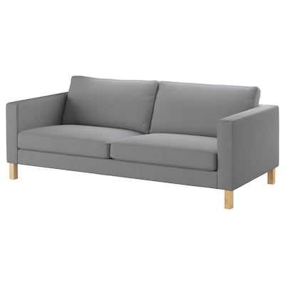 "KARLSTAD sofa Knisa light gray 80 3/4 "" 36 5/8 "" 31 1/2 "" 22 "" 17 3/4 """