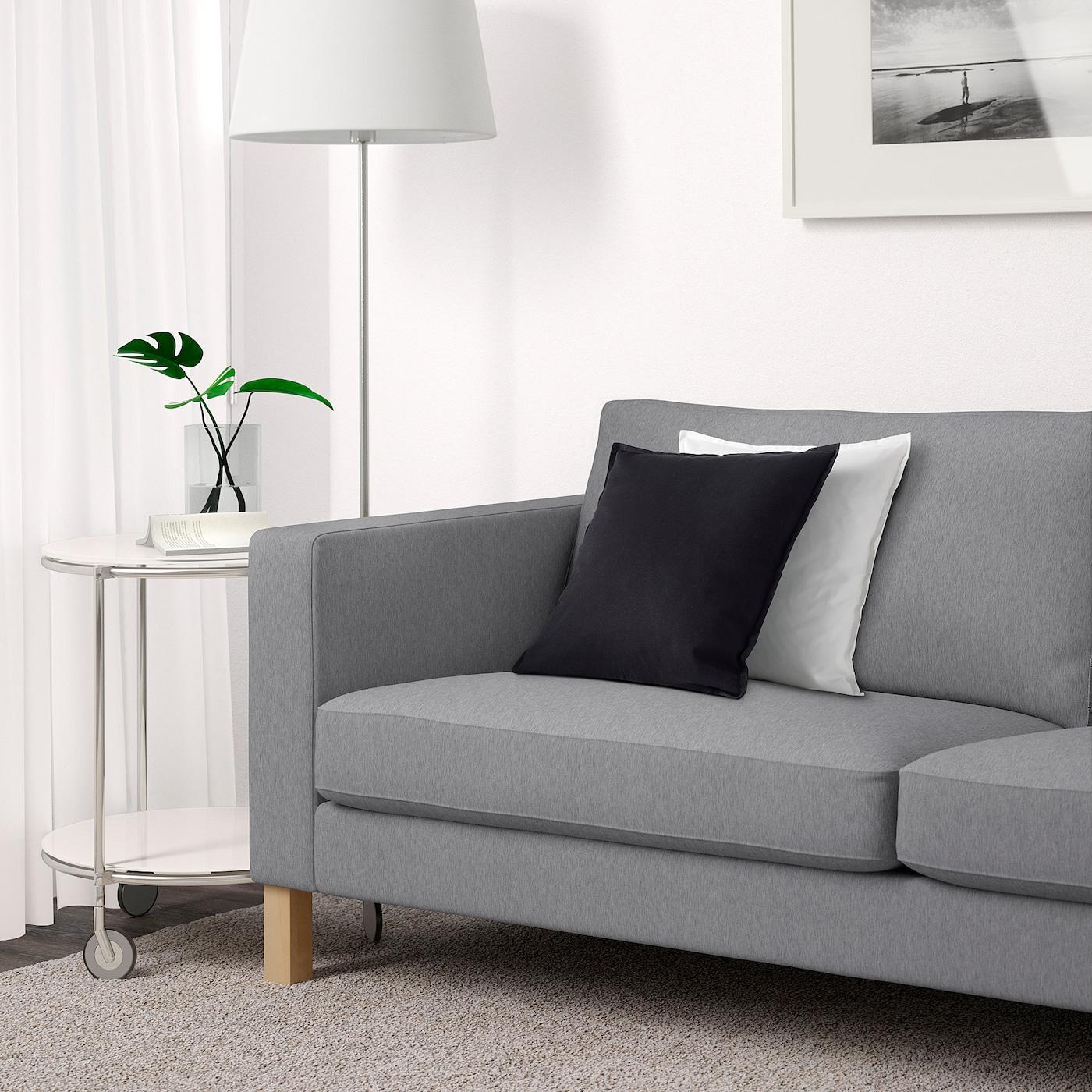 Karlstad Sofa Knisa Light Gray Ikea