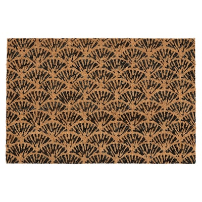 "KASKADGRAN Door mat, indoor, natural/dark brown, 1 ' 4 ""x2 ' 0 """