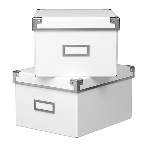 KASSETT Box with lid IKEA This box is perfect for storing your DVDs, games, chargers remotes or desk accessories.