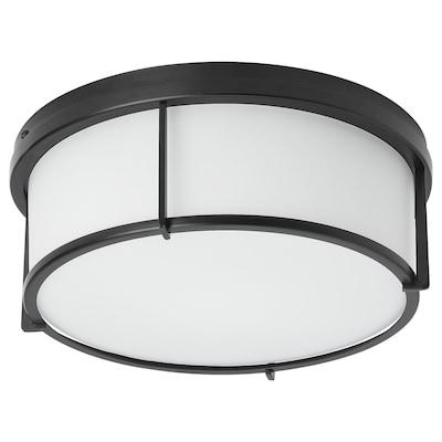 KATTARP Ceiling lamp, glass black