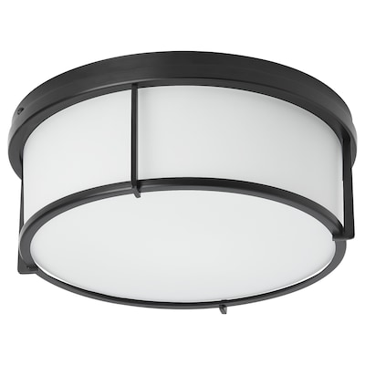 KATTARP Ceiling lamp, glass black