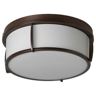 "KATTARP ceiling lamp glass bronze color 13 W 5 "" 13 """