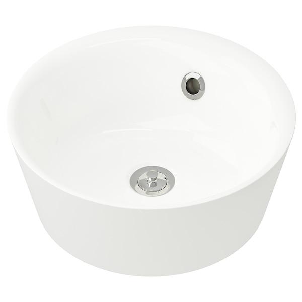"""KATTEVIK Countertop sink, white, 15 3/4 """""""