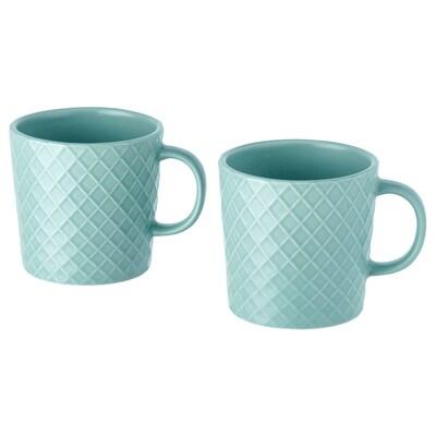 KEJSERLIG mug turquoise 10 oz 2 pack