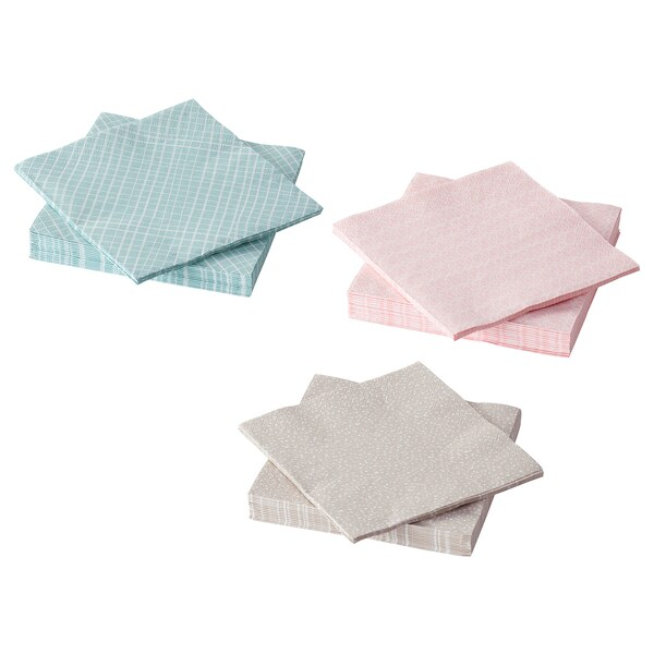 KEJSERLIG Paper napkin, assorted colors, 13x13 ""