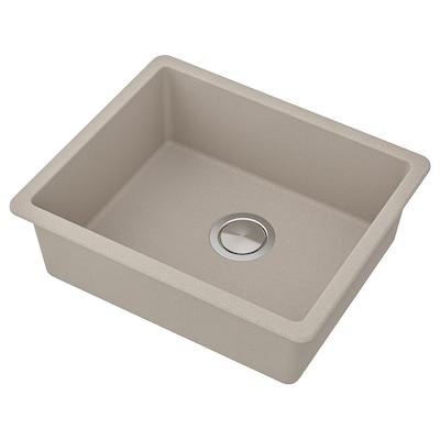 "KILSVIKEN Sink, gray/beige quartz composite, 22x18 1/8 """