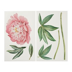 KINNARED decorative stickers, Pink peony