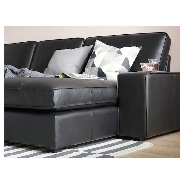 Ikea Karlstad Leren Bank.Kivik Sofa With Chaise Grann Bomstad Black Ikea