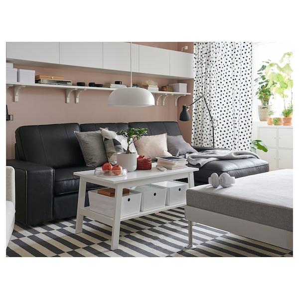 Ikea Karlstad Leren Bank.Kivik Sofa With Chaise Grann Grann Bomstad Bomstad Black Ikea