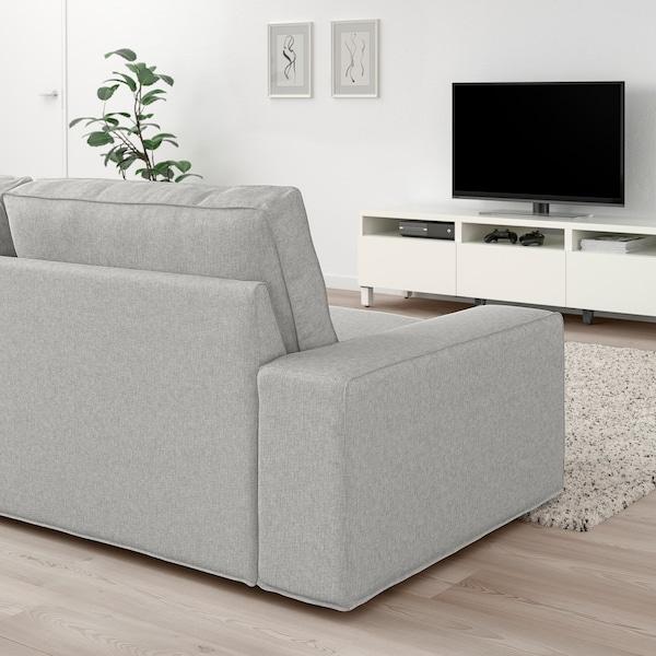 """KIVIK sofa with chaise/Tallmyra white/black 110 1/4 """" 32 5/8 """" 37 3/8 """" 64 1/8 """" 23 5/8 """" 48 7/8 """" 17 3/4 """""""