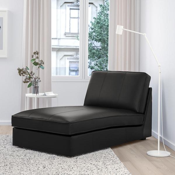 KIVIK Chaise, Grann/Bomstad black