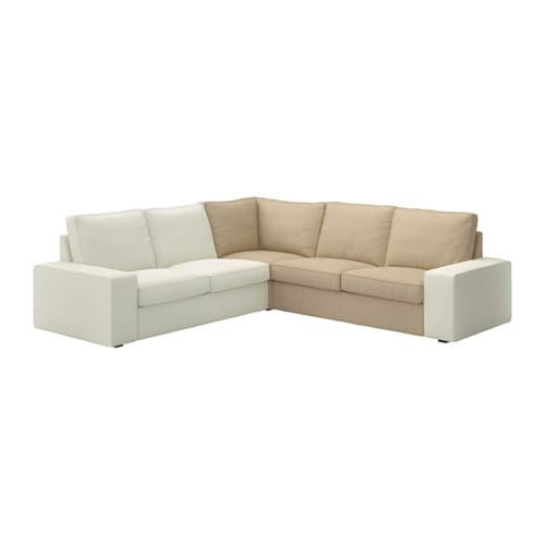 Kivik corner section isunda beige ikea for Housse sofa ikea