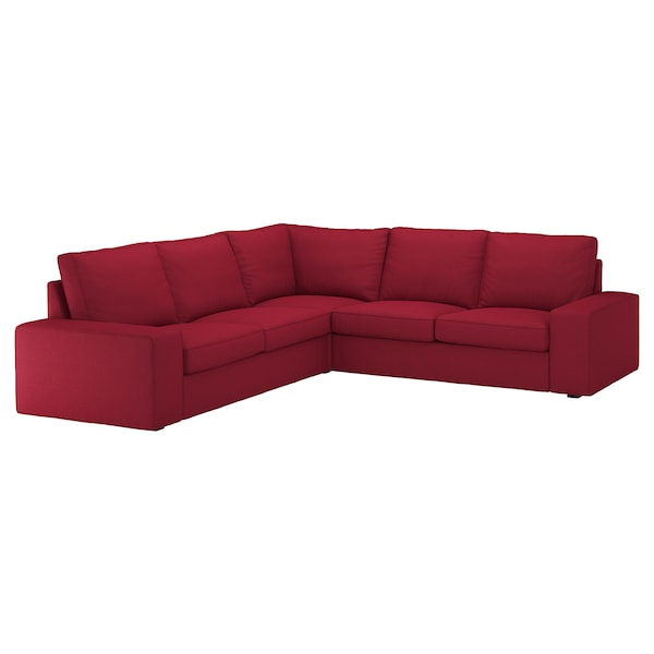 Sectional, 4-seat corner KIVIK Orrsta red