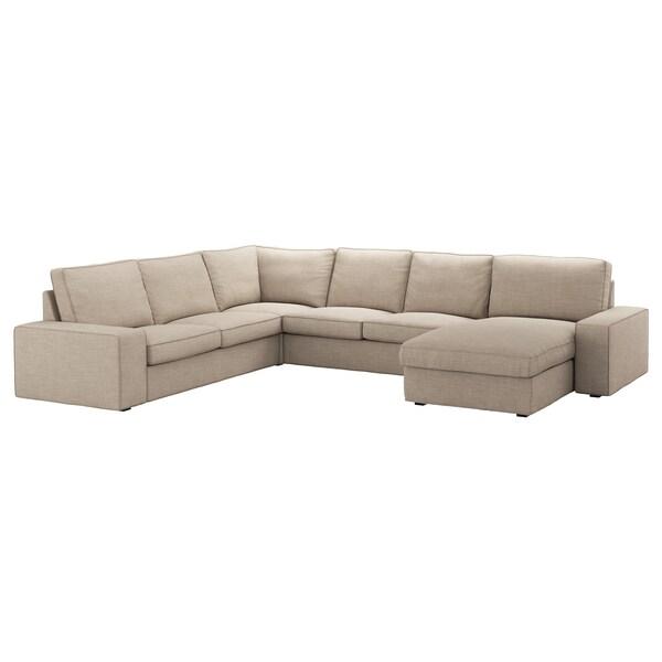 Superb Sectional 5 Seat Corner Kivik Hillared With Chaise Hillared Beige Uwap Interior Chair Design Uwaporg
