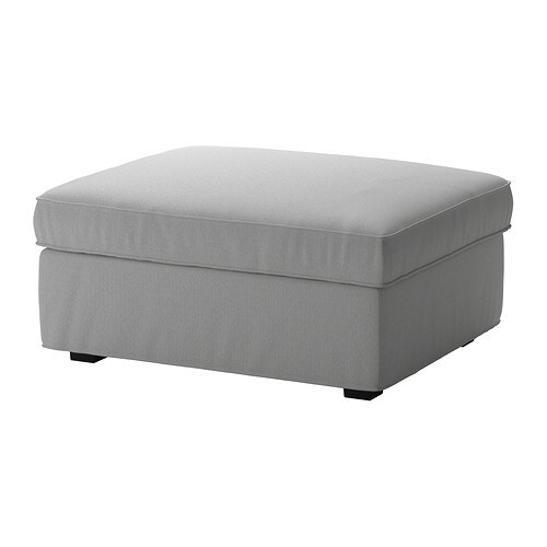 KIVIK Cover for ottoman with storage - Orrsta light gray - IKEA on