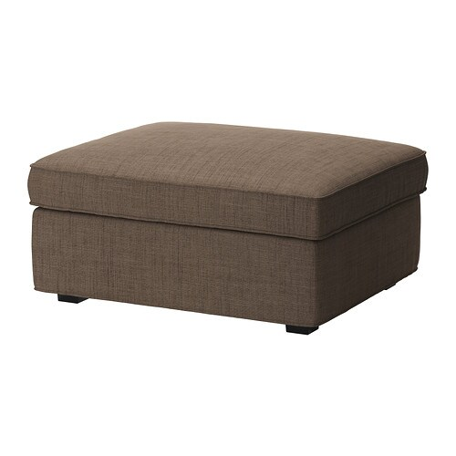 Kivik Footstool With Storage Isunda Brown Ikea