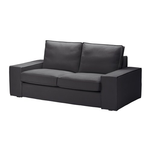 Kivik Loveseat Cover Dansbo Dark Gray Ikea