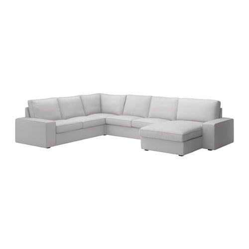 Kivik loveseat with chaise orrsta light gray ikea - Medidas de sofas chaise longue ...