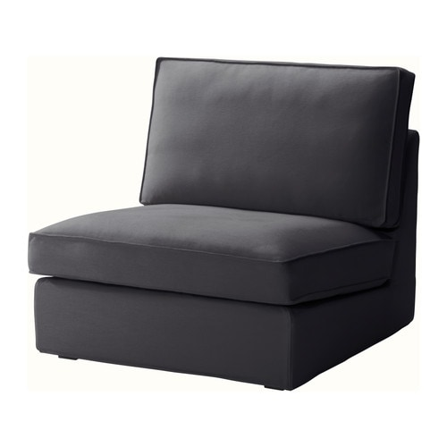 Kivik one seat section dansbo dark gray ikea for Housse sofa ikea