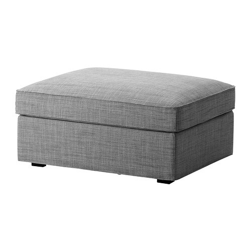 kivik ottoman with storage isunda gray ikea