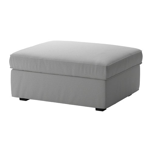 KIVIK Ottoman with storage - Orrsta light gray - IKEA
