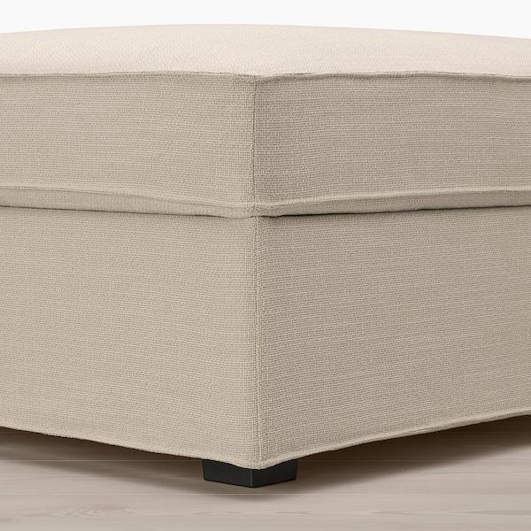 KIVIK Ottoman with storage, Hillared beige