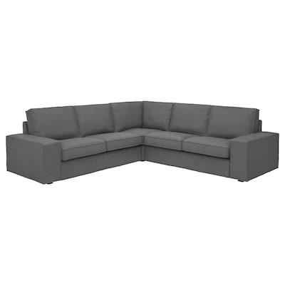 KIVIK Sectional, 4-seat corner, Skiftebo dark gray