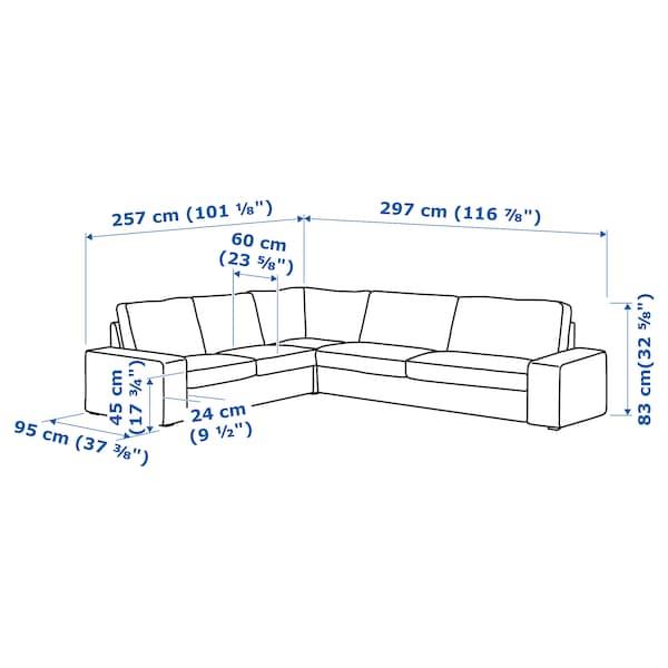 KIVIK Sectional, 5-seat corner, Hillared anthracite