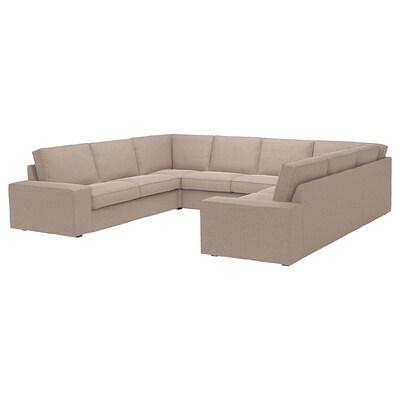 KIVIK Sectional, 6 seat, Tallmyra beige
